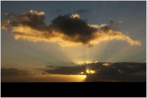 Scheint die Sonne jetzt nach oben in Richtung Himmel?