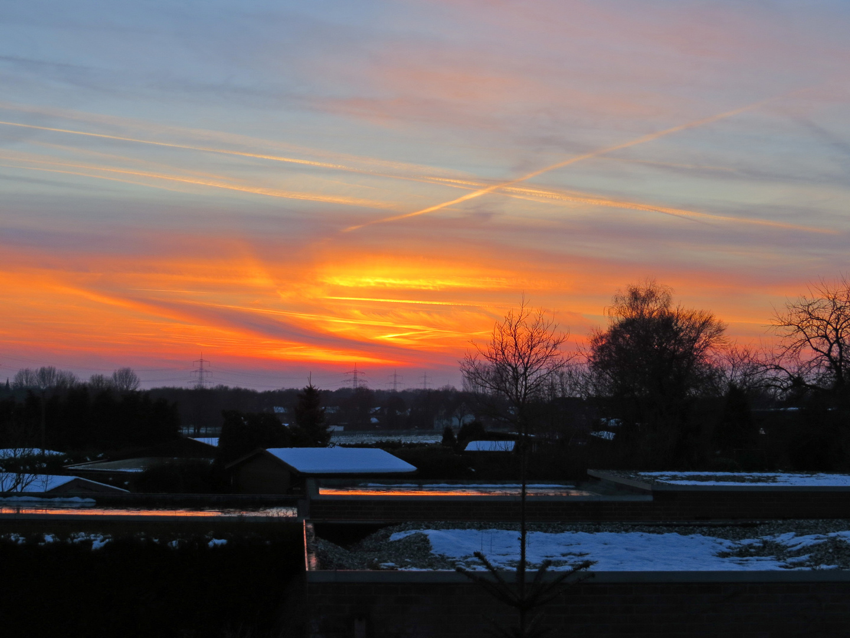 Schermbeck nach Sonnenuntergang.