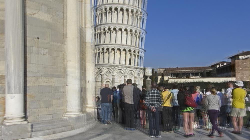 Schiefer Turm von Pisa 2 -3D-