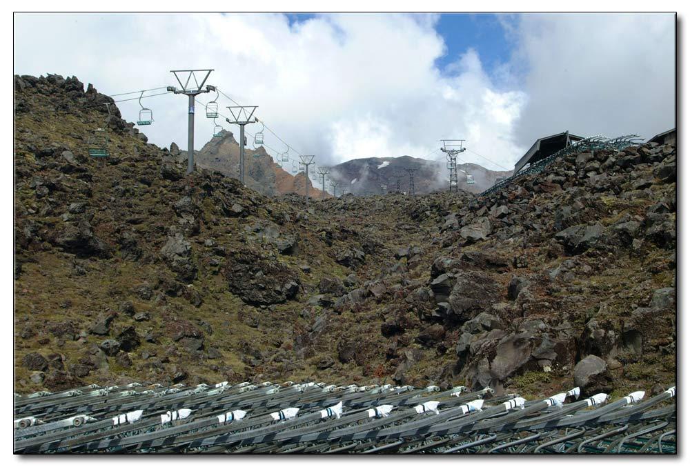 Schiegebiet auf dem Vulkan