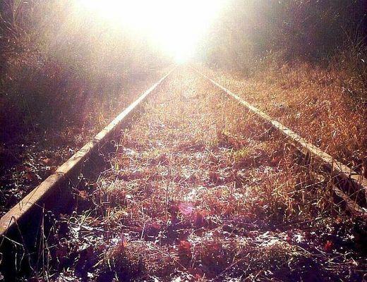 Schienen zum Horizont