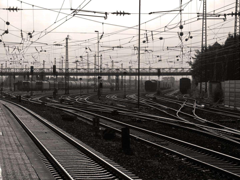 Schienengewirr: Bahnhof Mainz-Bischofsheim