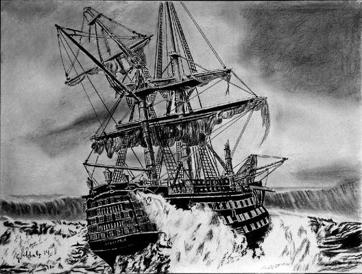 Schiff in Seenot
