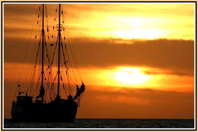 Schiff vor dem Untergang