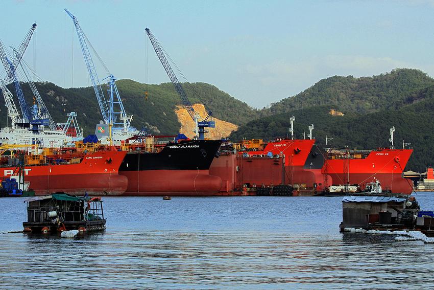 Schiffbau in Korea