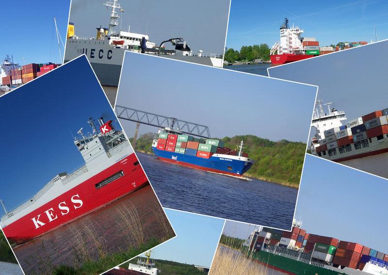 Schiffe am Nord- Ostsee- Kanal