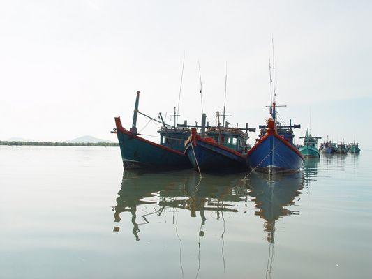 Schiffe bei Kampot