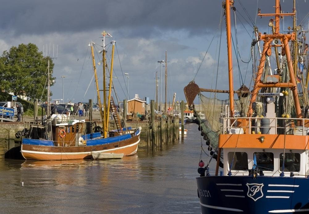 Schiffe im Hafen zu Neuharlingssiel