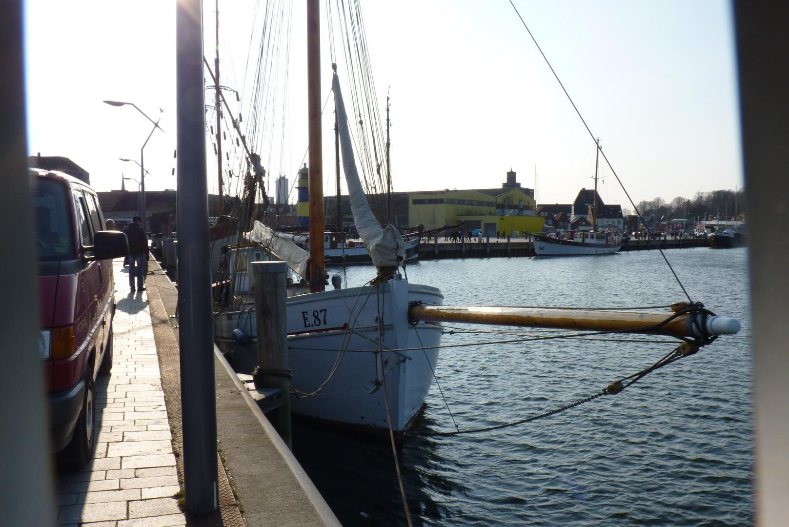 Schiffe in Eckernförder Hafen