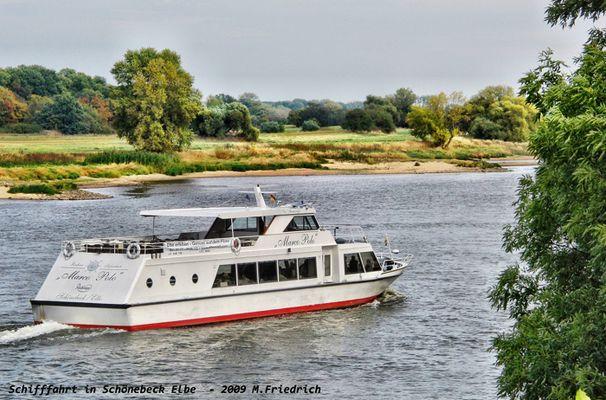 Schifffahrt auf der Elbe in Schönebeck