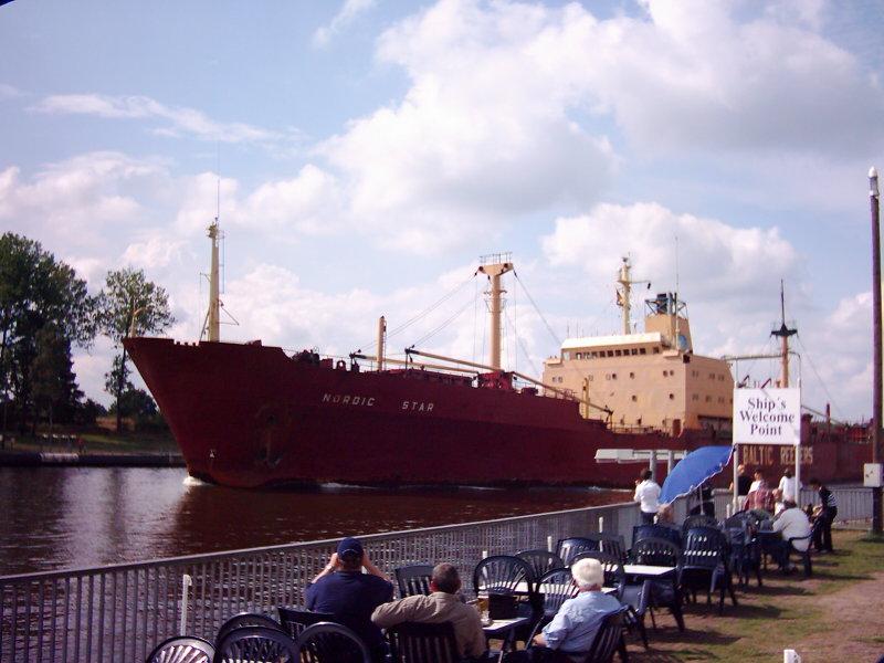 Schiffsbegrüssungsanlage Rendsburg Nord Ostsee Kanal