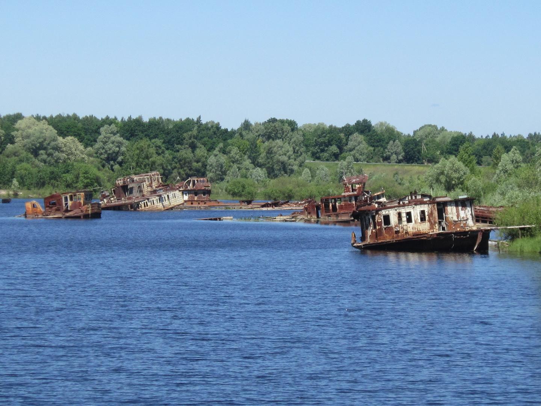 Schiffshafen von Tschernobyl