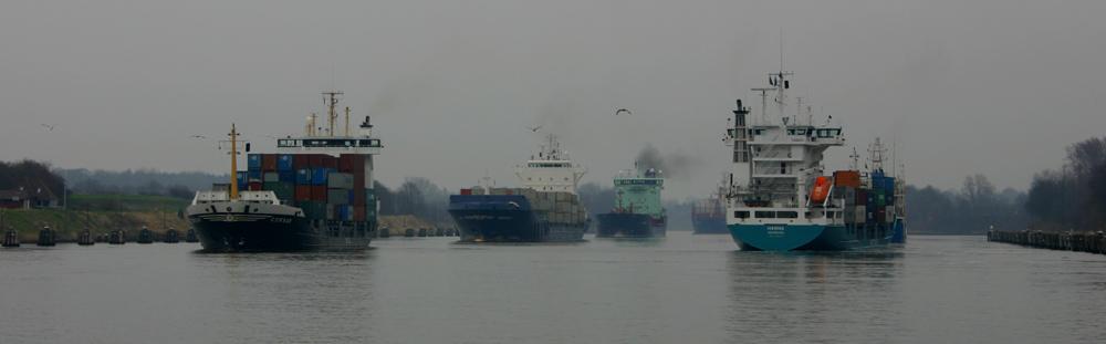 Schiffsverkehr auf dem NOK