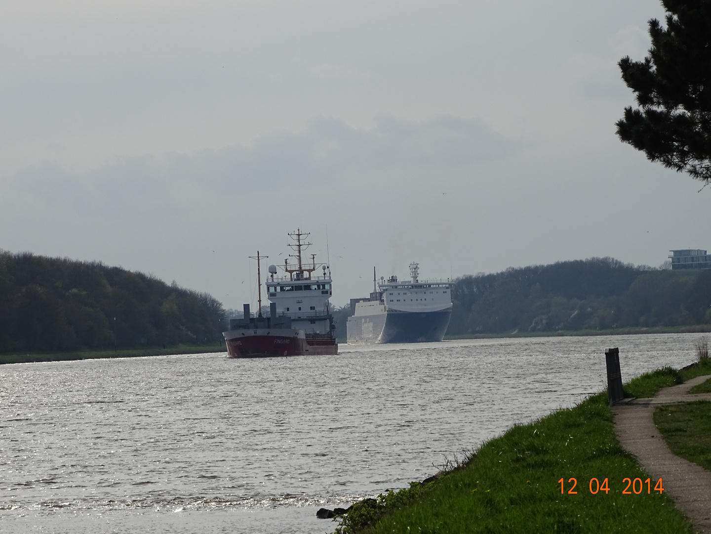 Schiffsverkehr auf den Nord-Ostsee-Kanal