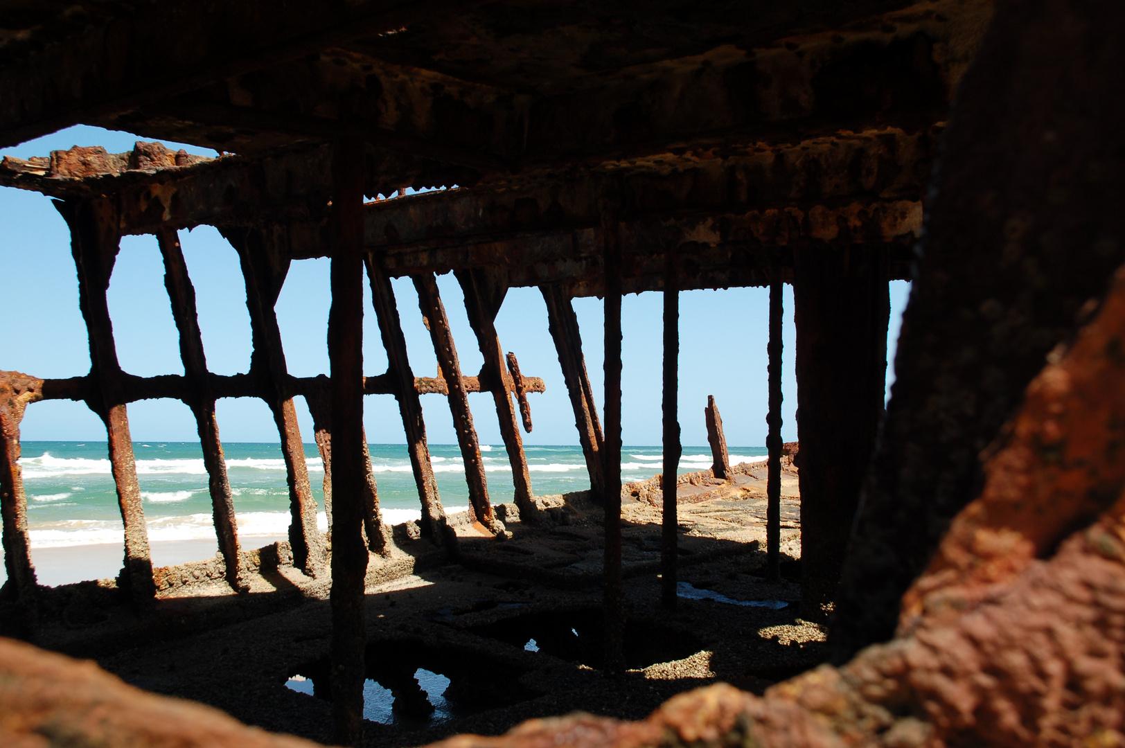 Schiffswrack auf Fraser Island