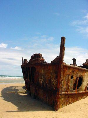 Schiffswrack auf Fraser Island, Au 2002