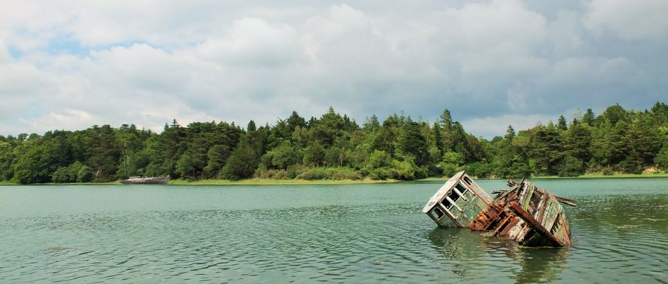 Schiffswrack bei Benodet