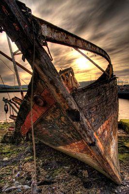 Schiffswrack in Dingle, Ireland