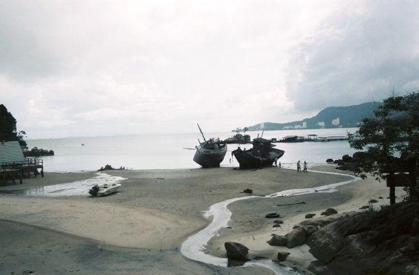 Schiffswracks in Penang Nähe Monkey Beach