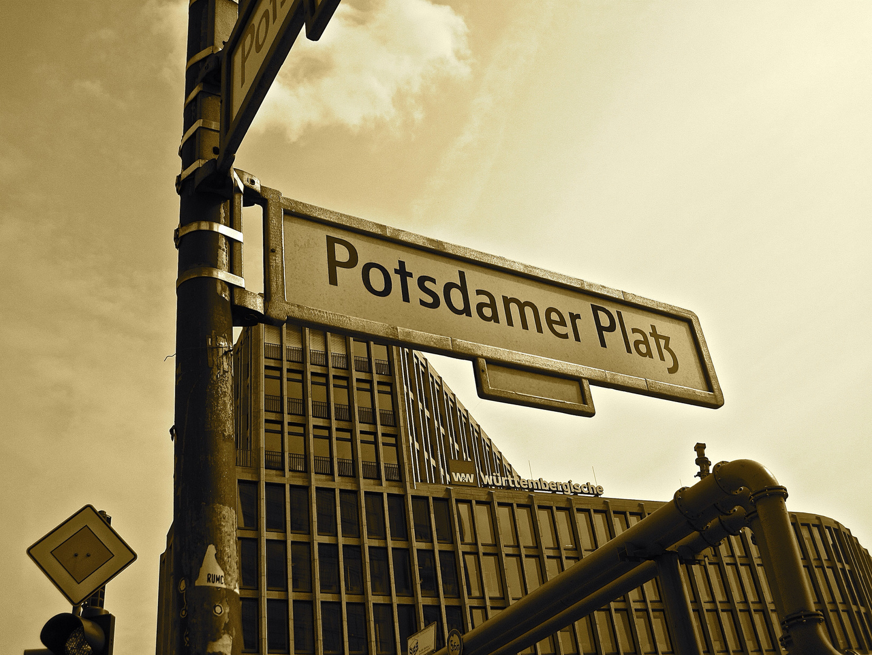 Schild Potsdamer Platz