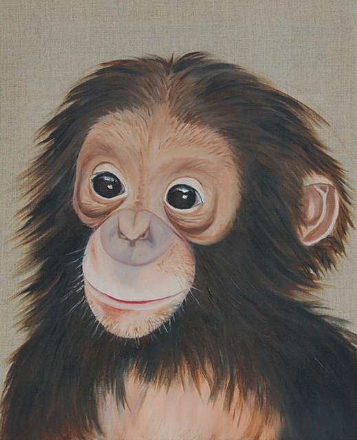 Schimpanse Kleinkind