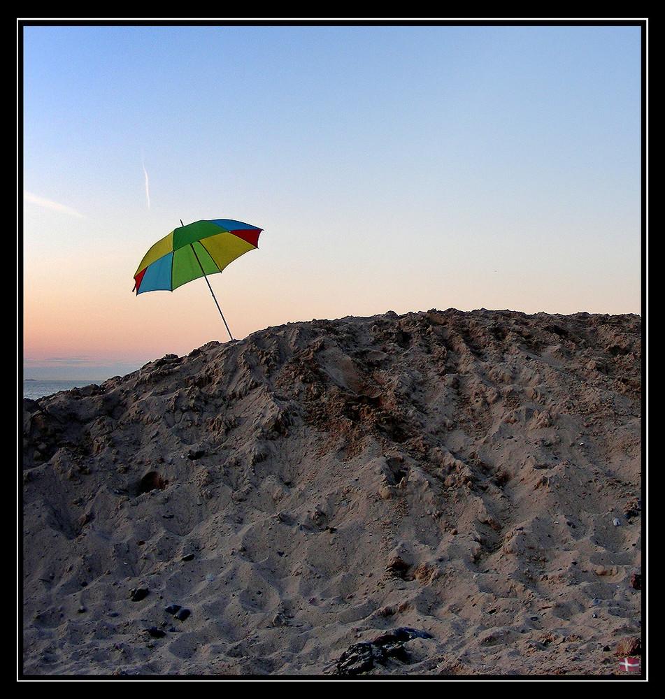 Schirm steh'n lassen
