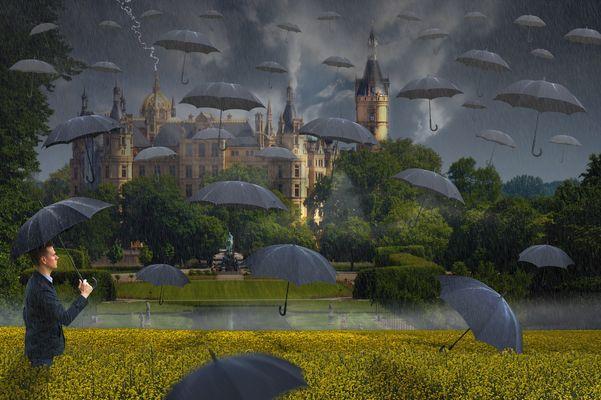 Schirme-Regen
