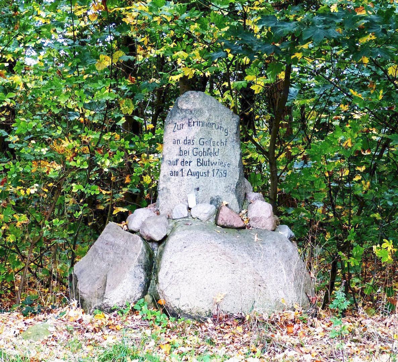 Schlachtdenkmal in der Blutwiese