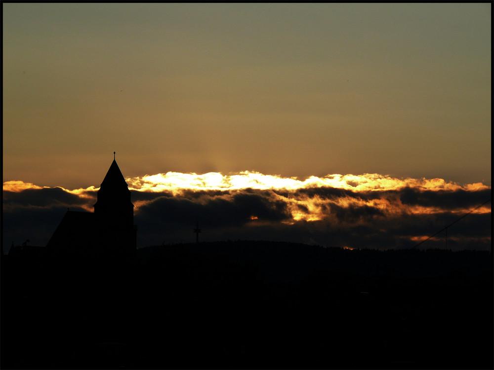 Schlachthof Wiesbaden Sonnenuntergang