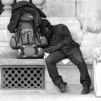 Schlafen kann man überall