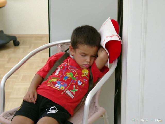 schlafend wie ein Engelchen...