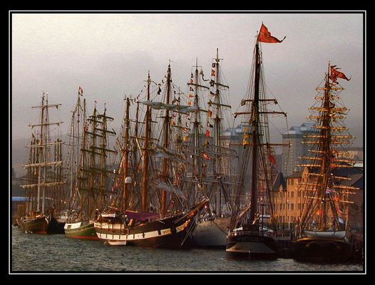 Schlafende Riesensegler | Tall Ships Resting