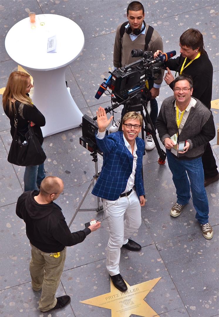 Schlager-Star Hansy Vogt in Action