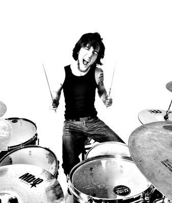 Schlagzeuger in Aktion