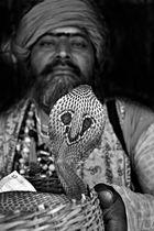 Schlangenbeschwörer mit Kobra