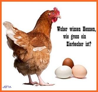Schlaue Hennen