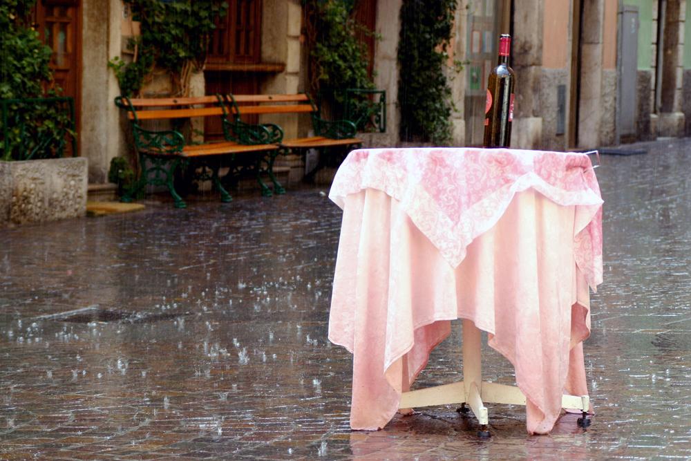 Schlechtes Wetter in Riva