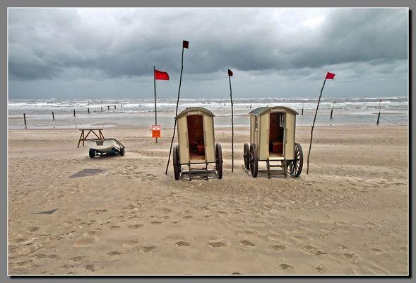Schlechtwetter an der Nordsee