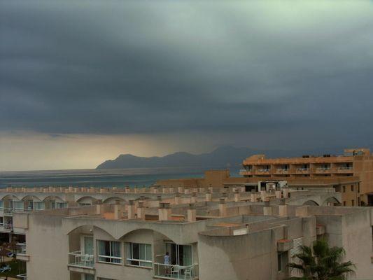 schlechtwetter front auf mallorca
