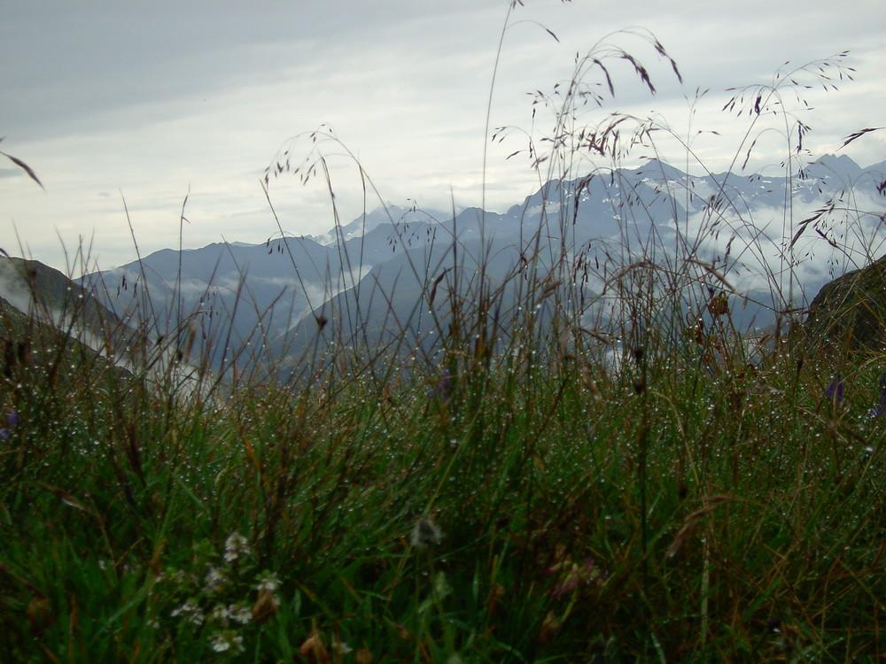 Schlechtwetter in den Alpen