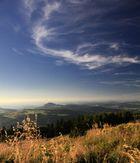 Schleierwolken über der Milseburg