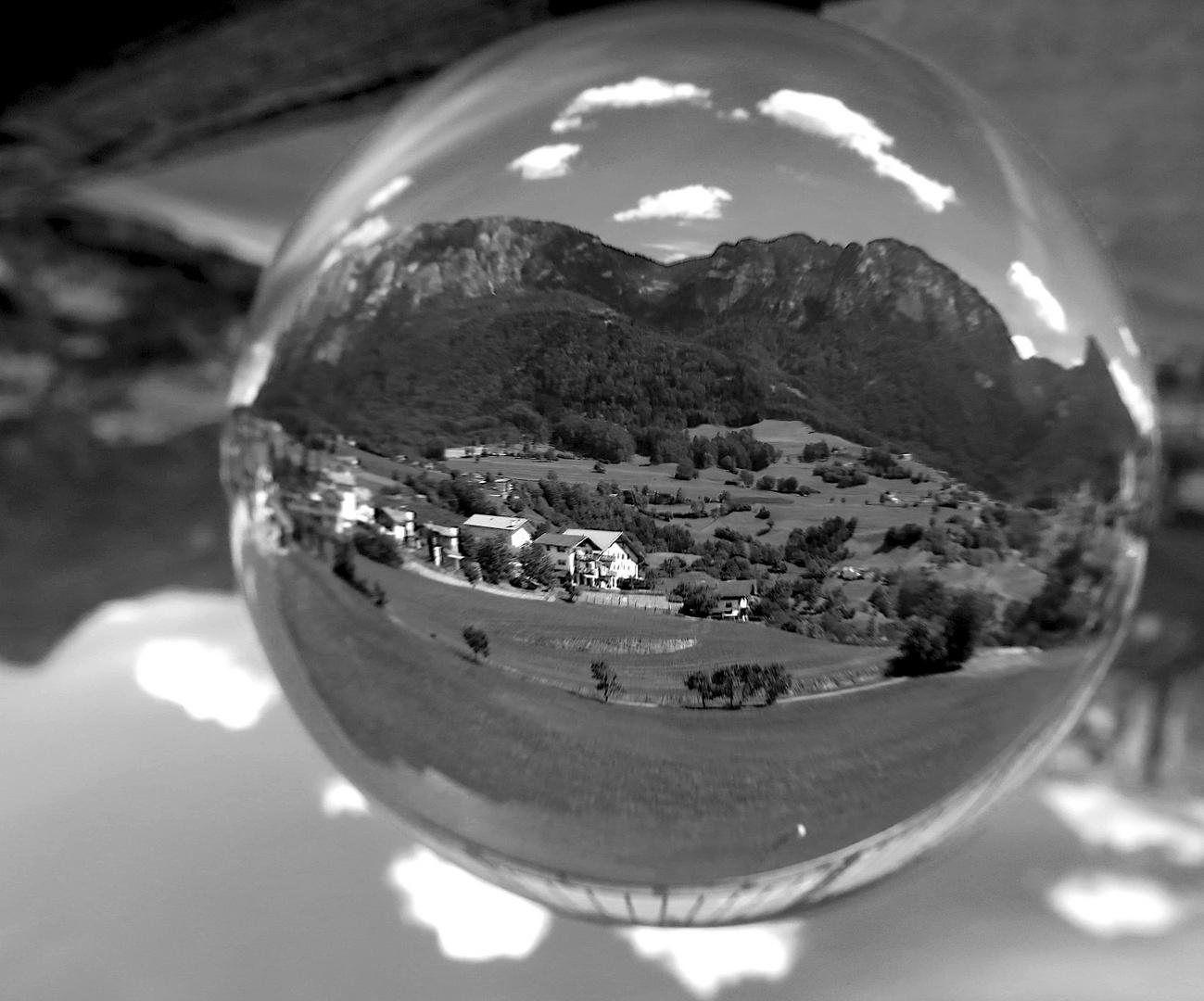 Schlern im Glas