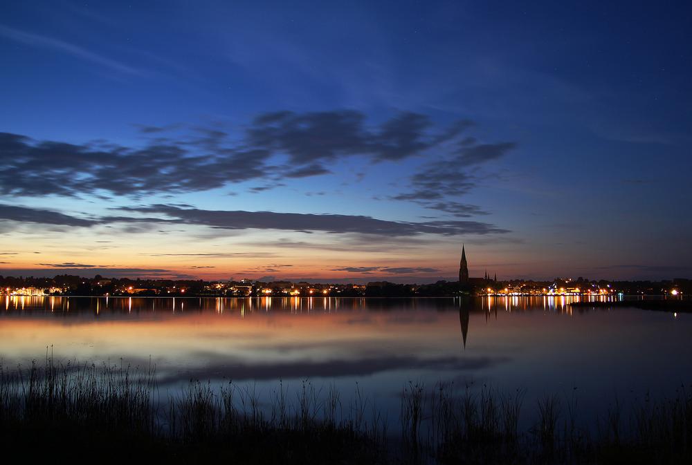 Schleswig in der blauen Stunde.