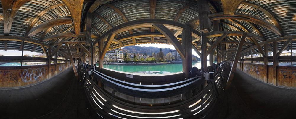 Schleuse Thun im Berner Oberland, Schweiz