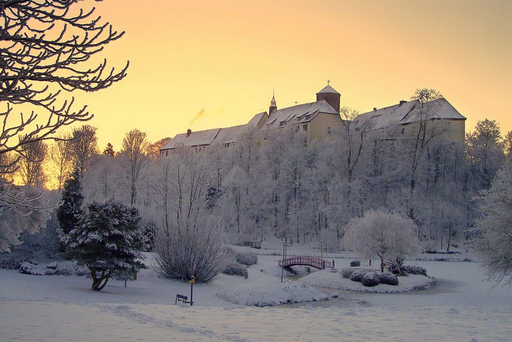 Schloss Bad Iburg bei Sonnenaufgang