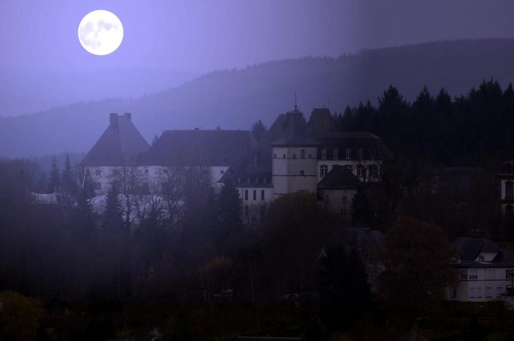 Schloss bei Vollmond