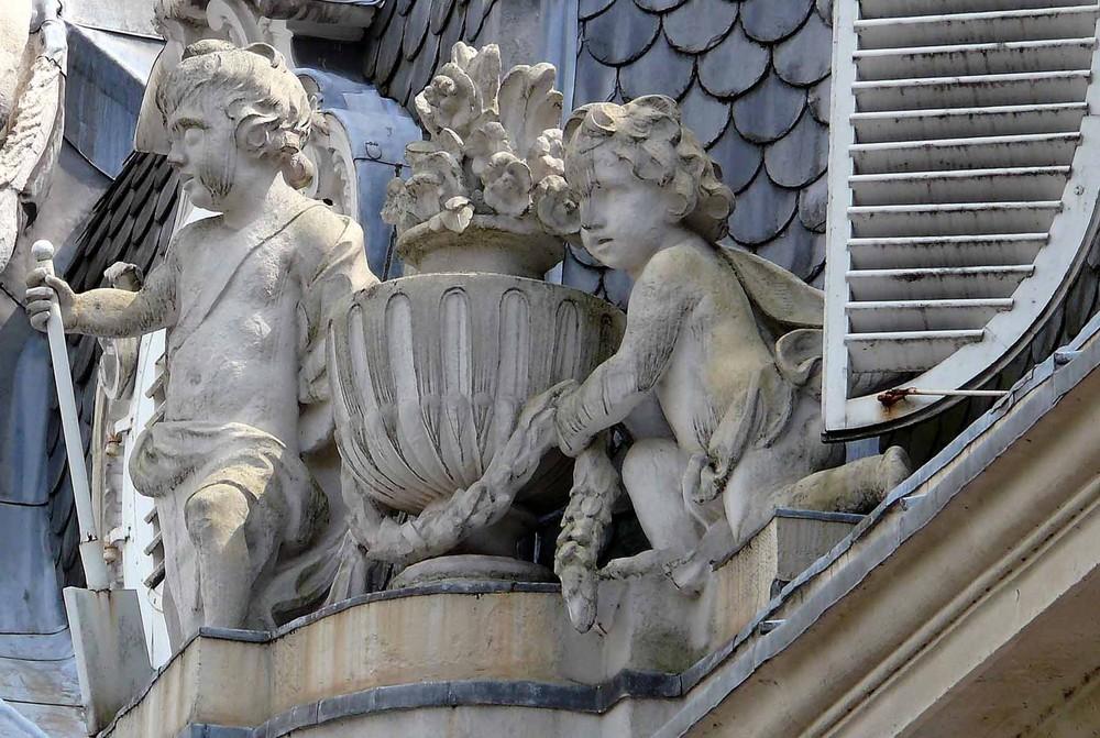 Schloss Benrath in Düsseldorf (Detail)