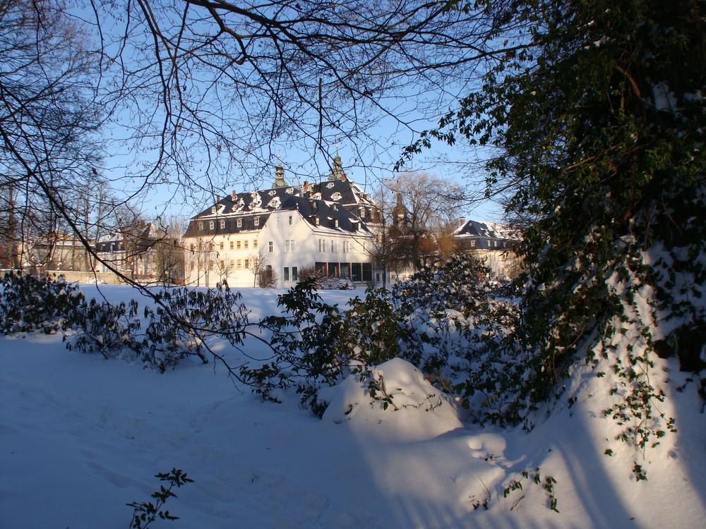 Schloss Blankenhain im Schnee