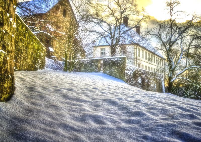 Schloss Cappenberg im Schnee