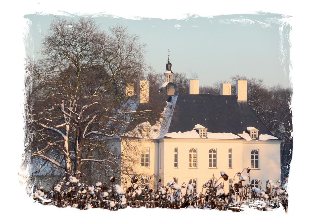 Schloss Gartrop im Winter.